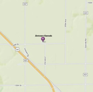 Map of Jimtown Kennels located at 21084 145th Street, Danville, Iowa, 52623